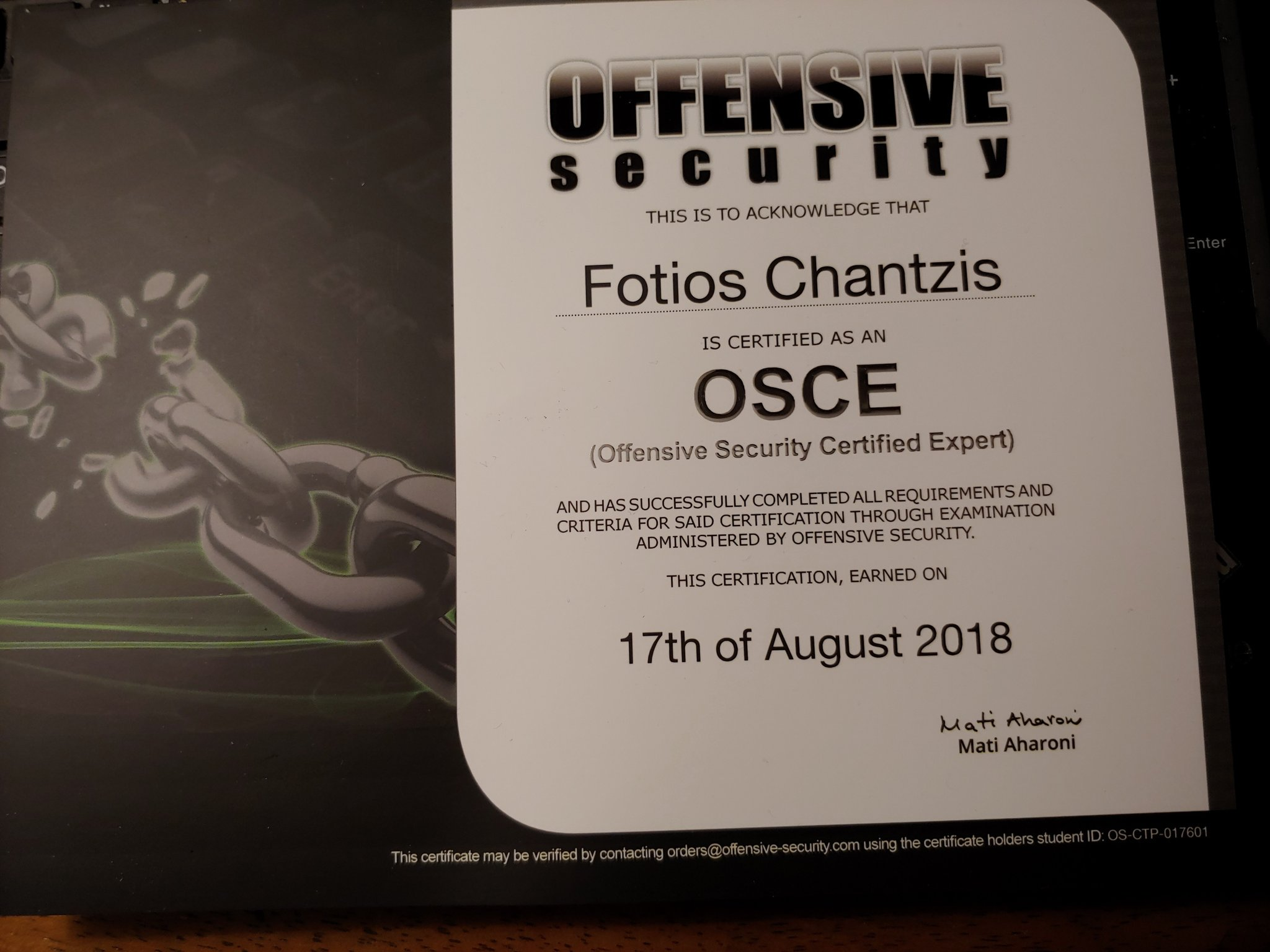Offensive Security CTP course and OSCE exam review | sock_raw